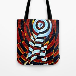 7023-LB Interdimensional Target of Love Abstract Booty Up Tote Bag