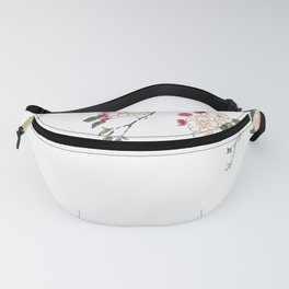 pink cherry blossom Japanese woodblock prints style Fanny Pack