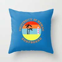 hawaii Throw Pillows featuring Hawaii by lescapricesdefilles