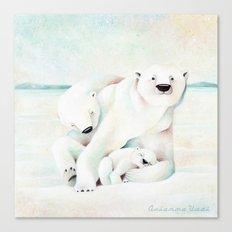 Polar Bears Canvas Print