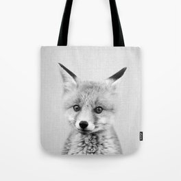 Baby Fox - Black & White Tote Bag