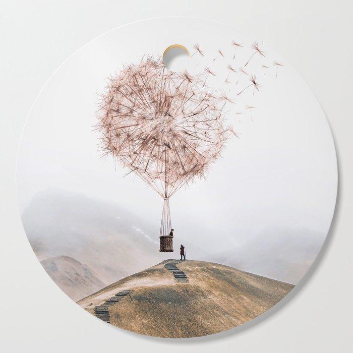 Flying Dandelion Cutting Board