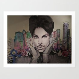 Mural Of the Artist formerly known as Prince Art Print