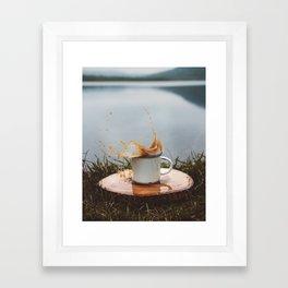 Splash of Coffee 2 Framed Art Print