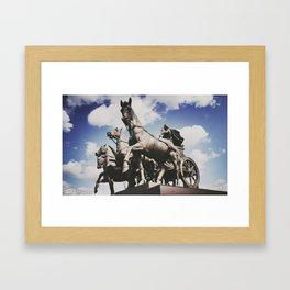 Quadriga Framed Art Print