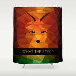 What the fox ? - color Shower Curtain