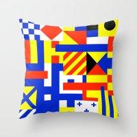 sail Throw Pillows featuring Sail by Jan Luzar