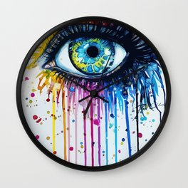 Color eyes Wall Clock