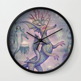 In the Turquoise Glacier Reef Wall Clock