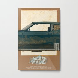 Mad Max's Black on Black Interceptor from The Road Warrior, 2 of 3 Metal Print
