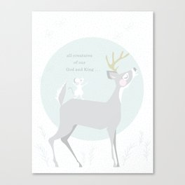 Deer Singing Canvas Print