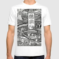 Day of the Dead White MEDIUM Mens Fitted Tee