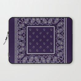Royal Purple Bandana Laptop Sleeve