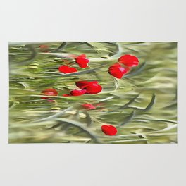 Corn Poppies Rug