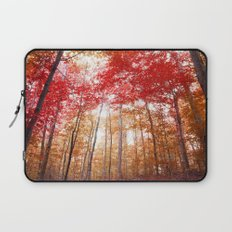 Red and Gold Laptop Sleeve