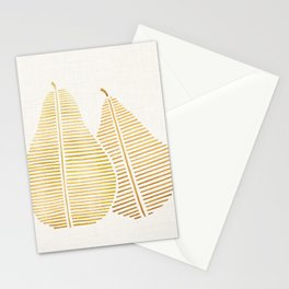 Golden Pears Stationery Cards