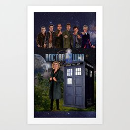 Seven Doctors Art Print