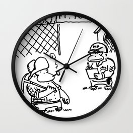 Prospector Ape Visits Ft. Knox Wall Clock