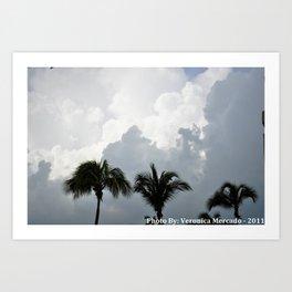 Trees kiss the cloud Art Print