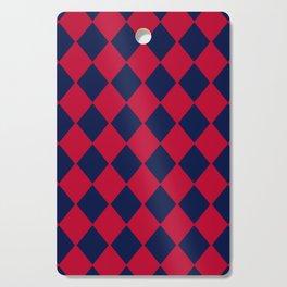 Red blue geometric pattern Cutting Board