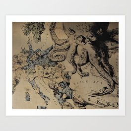 Before the War: a Map of Europe Art Print