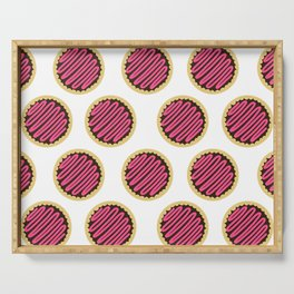 Strawberry Frosting Cookies Serving Tray