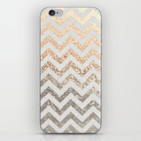 silver iPhone & iPod Skins featuring GOLD & SILVER  by Monika Strigel
