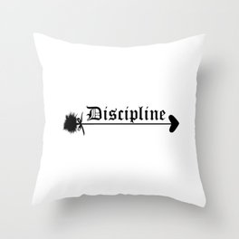 Discipline. Daddy girl submissive domination Throw Pillow