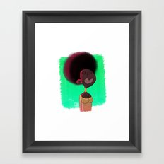 Black Woman Framed Art Print