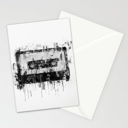 cassette / tape Illustration black and white painting Stationery Cards