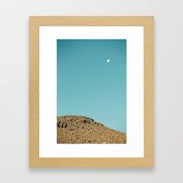 Moon at Sliding Sands Trail, Haleakalā National Park Maui Framed Art Print