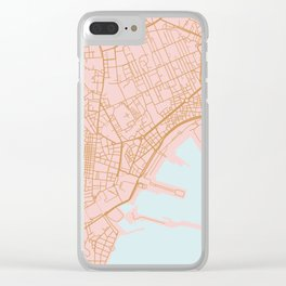 Napoli map Italy Clear iPhone Case