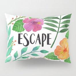 Escape - Tropical Watercolor Floral Pillow Sham