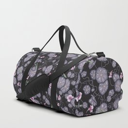 Black Indian cress garden. Duffle Bag