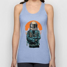 Rebel Astronout Unisex Tank Top