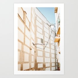 Tiled Alleys Granada, Spain | Street photography fine art travel print | saige ash studio Art Print