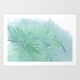 Tree branch with green leaves Art Print