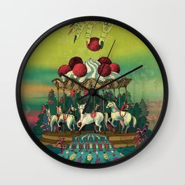 Cherry Go Round Wall Clock