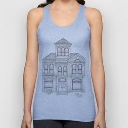 Green Italianate Victorian Unisex Tank Top