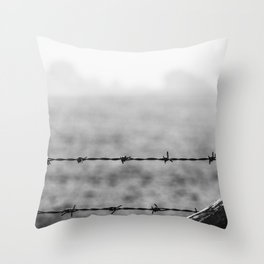 Metal and Wood. Throw Pillow