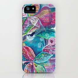 Sacred Temple and the Peacock King - Justine Aldersey-Williams 2012 iPhone Case