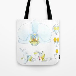 Orchid Dissection Tote Bag