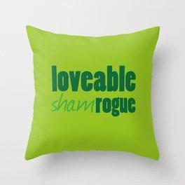 Loveable Shamrogue Throw Pillow