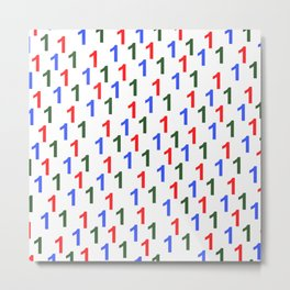colorful number pattern 1, 1 year anniversary, 1st birthday Metal Print