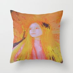 Intra Dimensional Light Being  Throw Pillow