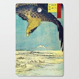 Hiroshige, Hawk Flight Over Field Cutting Board