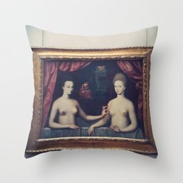 """Gabrielle d'Estrées and one of her sisters"" Throw Pillow"