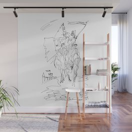 Medieval Rider Wall Mural