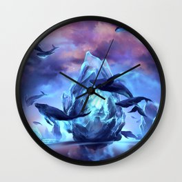 When the moon is closer Wall Clock