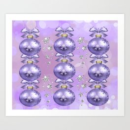 The Joy of Christmas - Purple Art Print